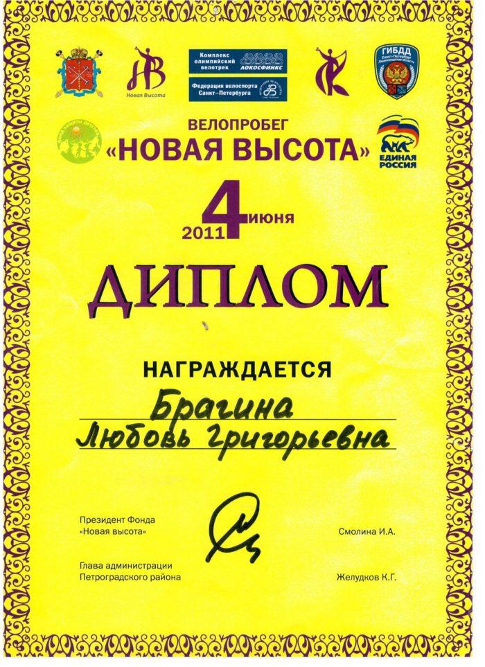 Диплом Новая высота 2011